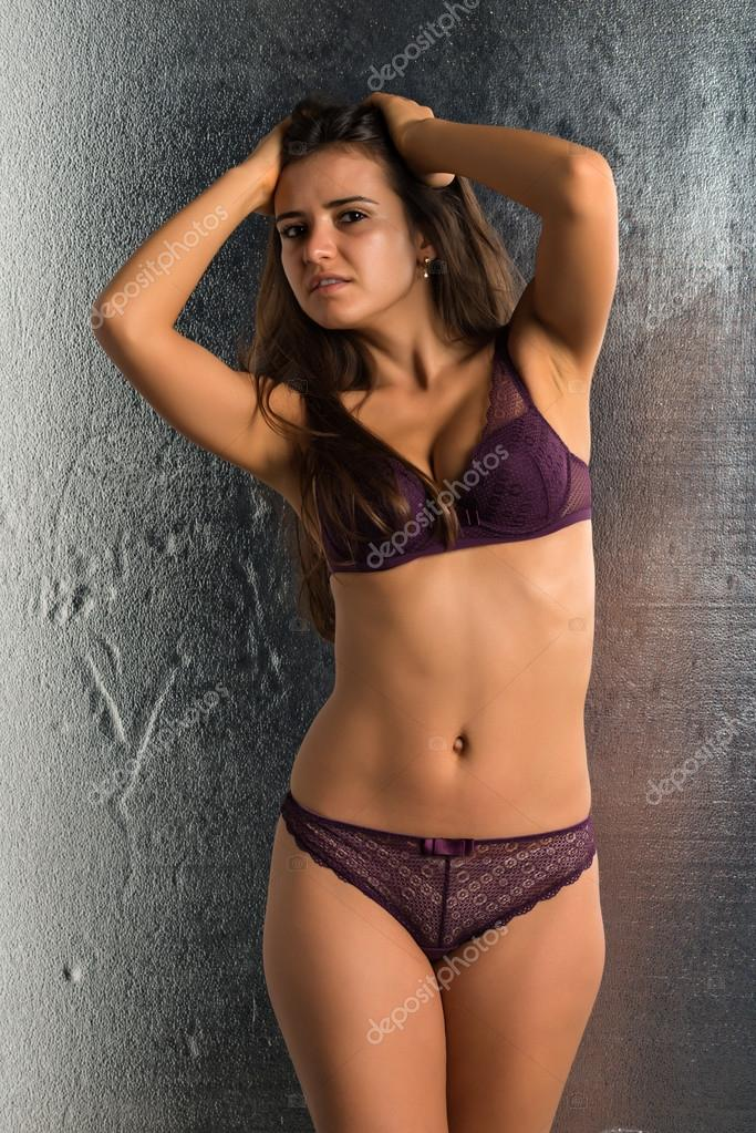 paarse lingerie