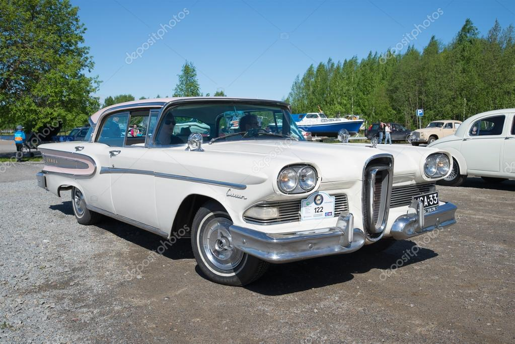 American car Edsel Citation 1958 model year on the parade of vintage ...