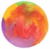 Kruh akvarelem malované pozadí