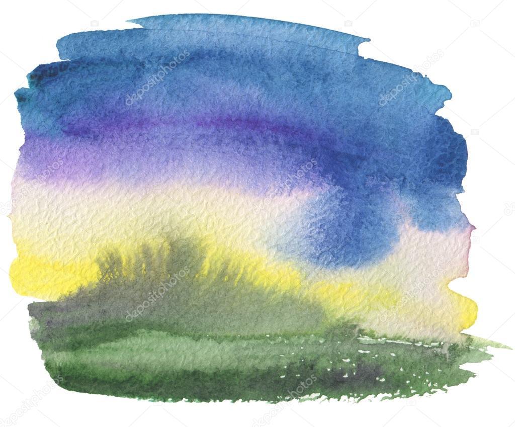 Marco pintado acrílico y acuarela abstracto — Foto de stock © Tihon6 ...