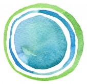 Abstract acrylic and watercolor circle painted background. Textu