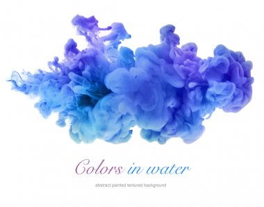 Acrylic colors in water. Abstract background. stock vector