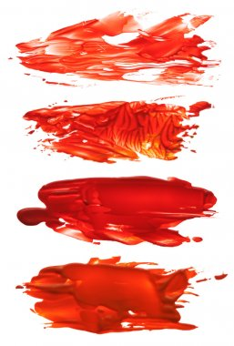 collection of abstract acrylic brush strokes blots
