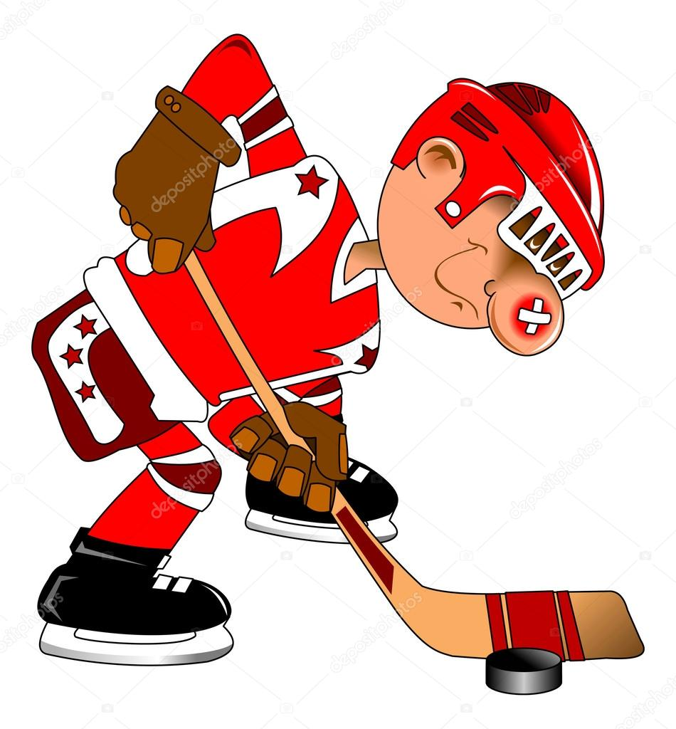 Hockey player in training