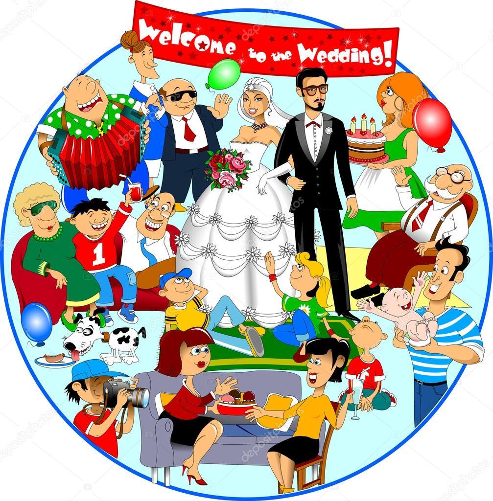 funny wedding illustration