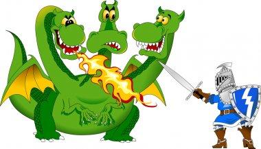 Knight attacks the Dragon