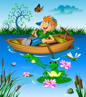 Little boy in boat