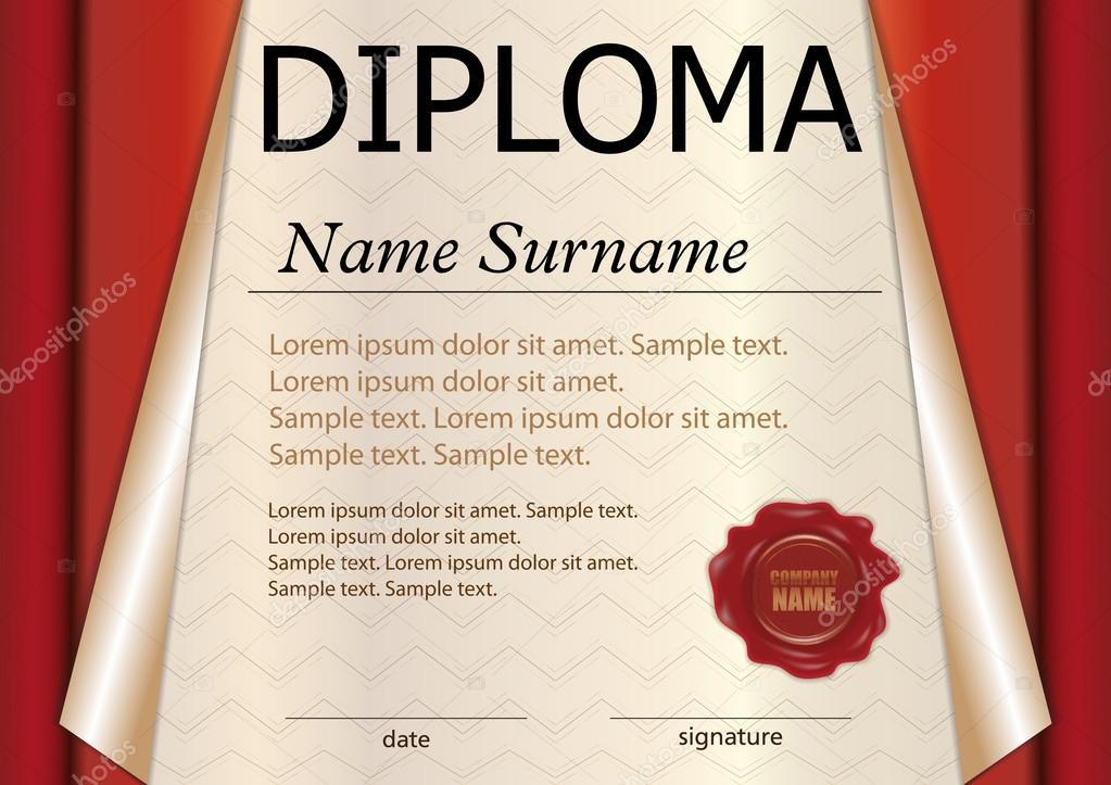 Diploma Or Certificate Template Award Winner Winning The