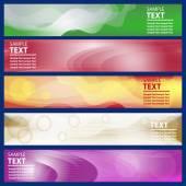 Intestazione del sito Web o un banner impostato. Modello luminoso orizzontale di disegno di affari