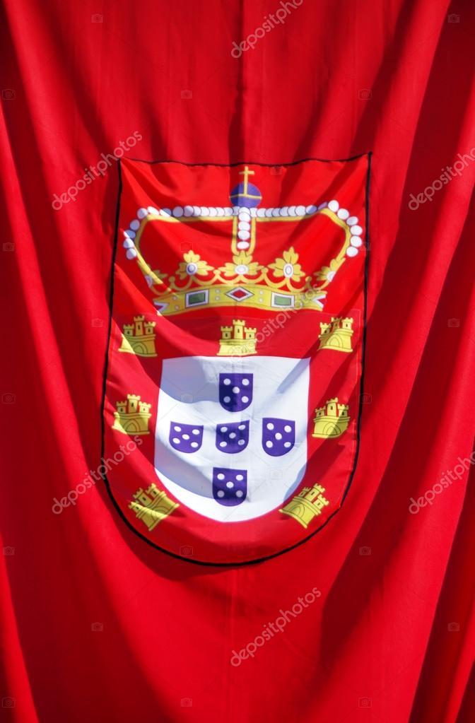 Ancien drapeau du portugal — Photographie inaquim © #115943426