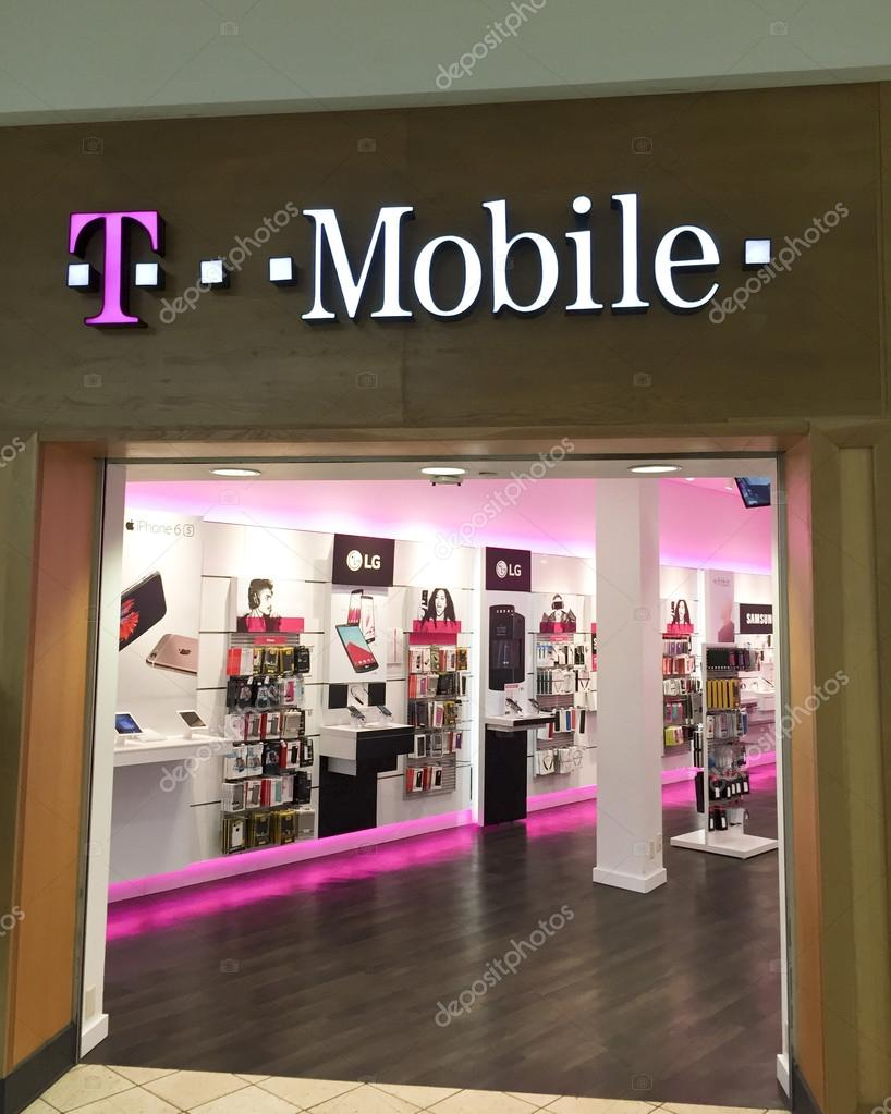 T mobile store in a retail mall stock editorial photo for Outlet mobile