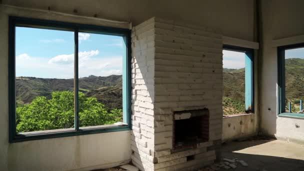 krajina z okna