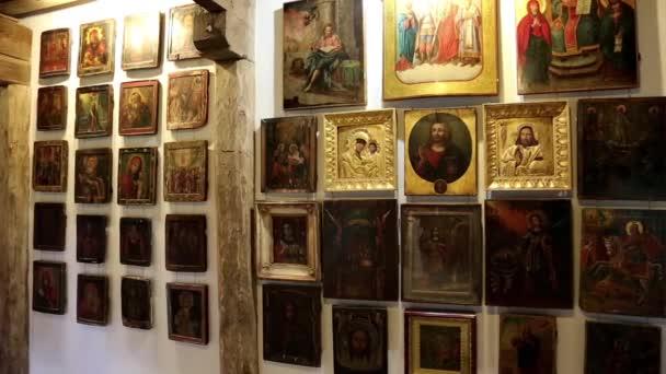 Old icons inside Radomysl Castle