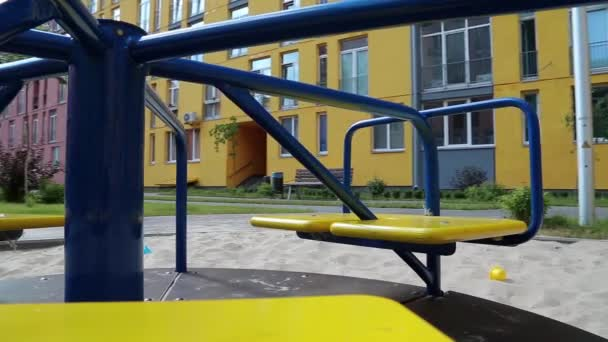 Merry-go-round on playground