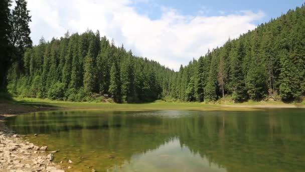 Jezero Synevir v Karpatech