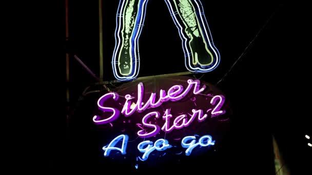 Neon signboard on Walking Street in Pattaya