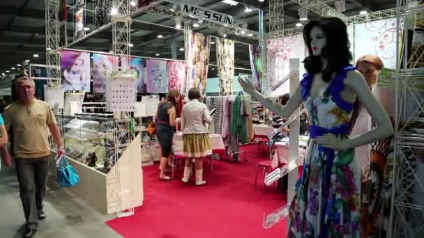 People at fashion show and trade fair
