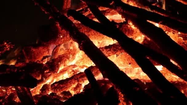Flames of bonfire