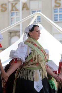 Members of folk group Selacka Sloga from Nedelisce, Croatia during the 48th International Folklore Festival in Zagreb