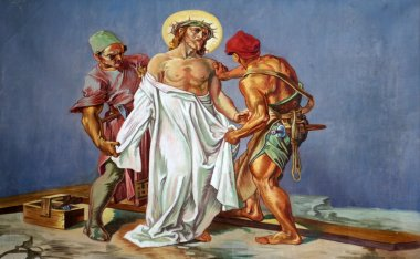 10th Stations of the Cross, Jesus is stripped of His garments
