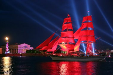 Celebration Scarlet Sails show during the White Nights Festival