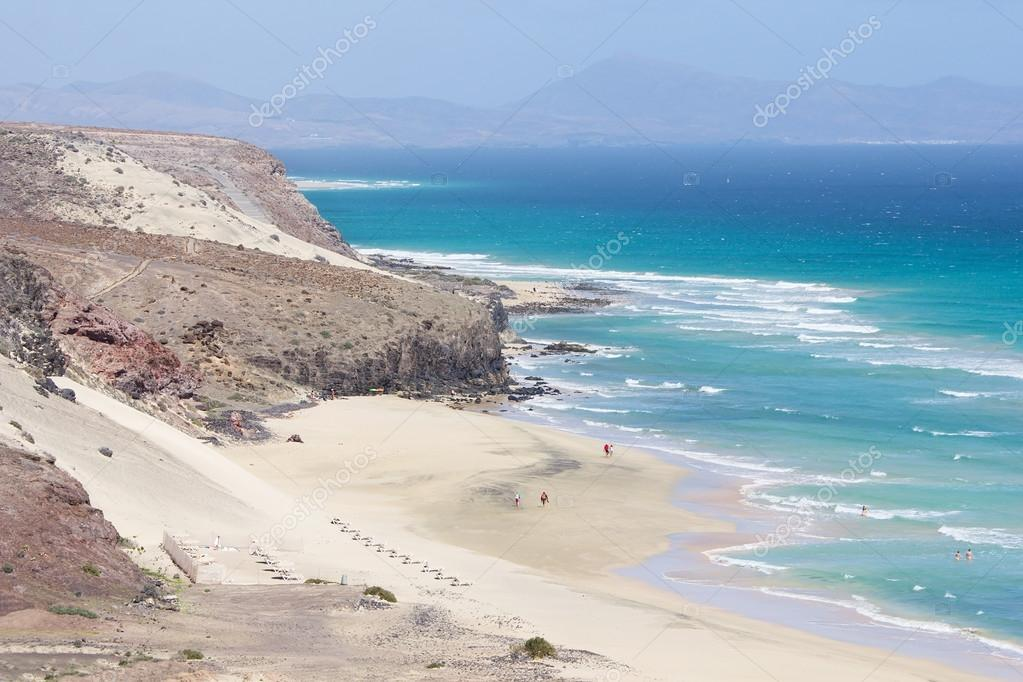 Mal Nombre Beach On The South East Coast Of Fuerteventura Stock