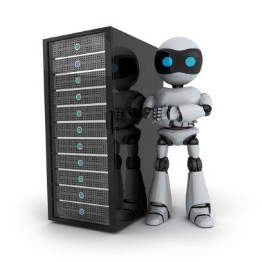Robot and server
