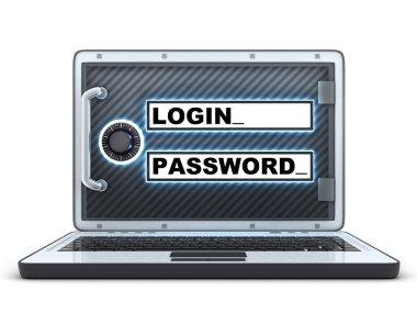 Laptop login and password