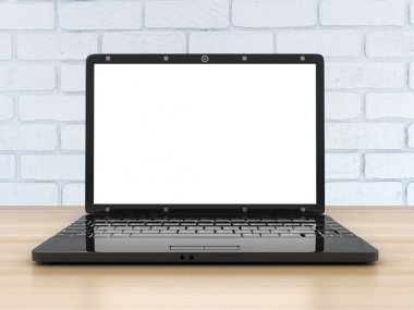 Laptop view front