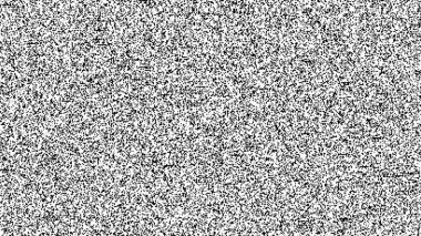 Black and white TV noise.