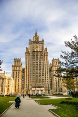 View on building of Ministry of Foreign Affairs of Russia in Mos