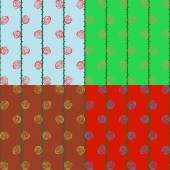 Abstract patterns of roses