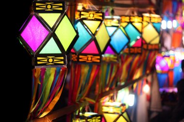 Colorful Lanterns fluttering in the winds