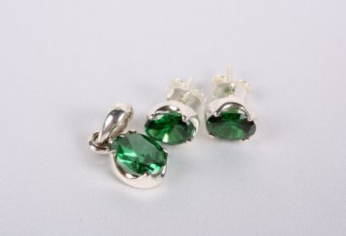 Green Gemstone Jewellery Set