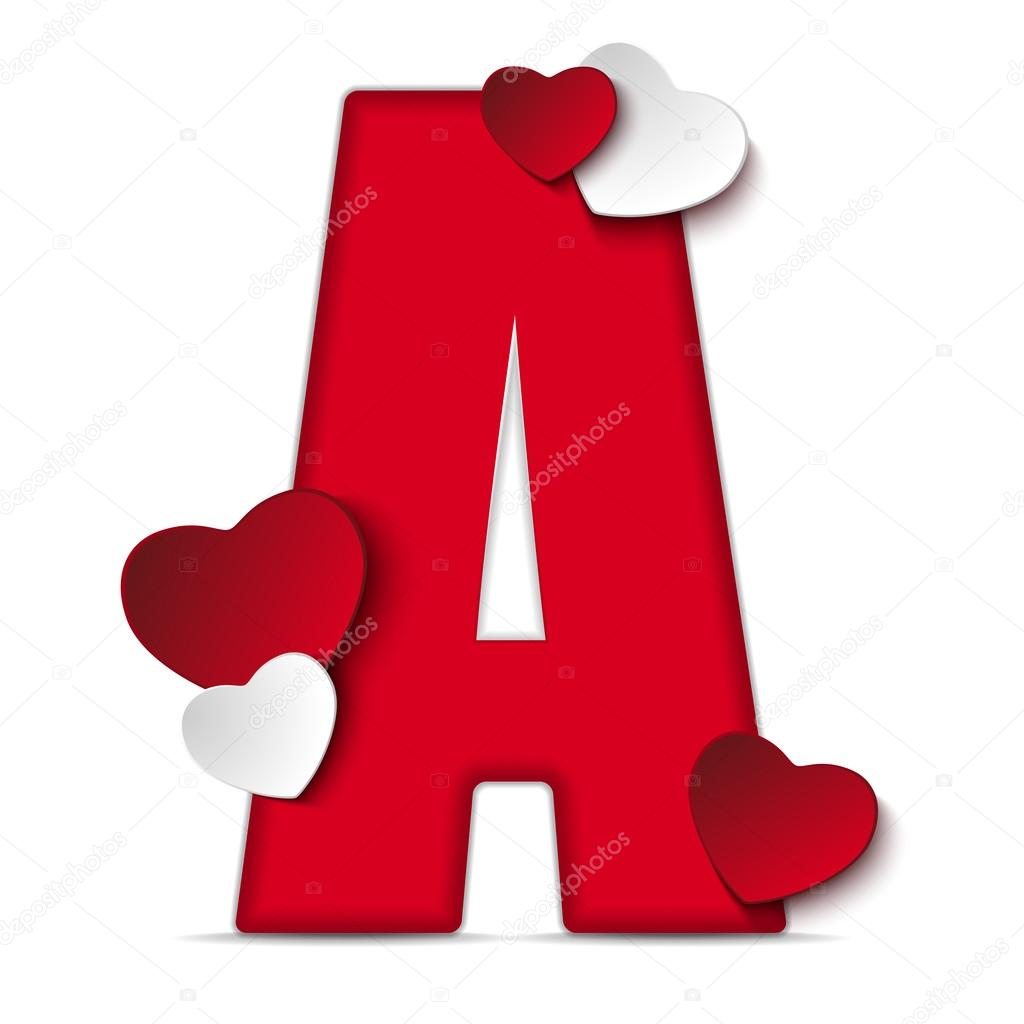 Heart Alphabet Gallery  Free Printable Alphabets  LETTER