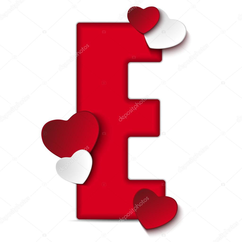 Alphabet letter e with hearts stock vector gubh83 61526863 alphabet letter e with hearts stock vector altavistaventures Images