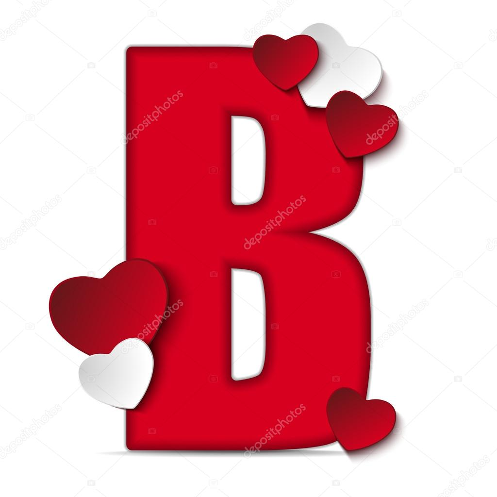 Alphabet Letter B With Hearts Stock Vector C Gubh83 61526865