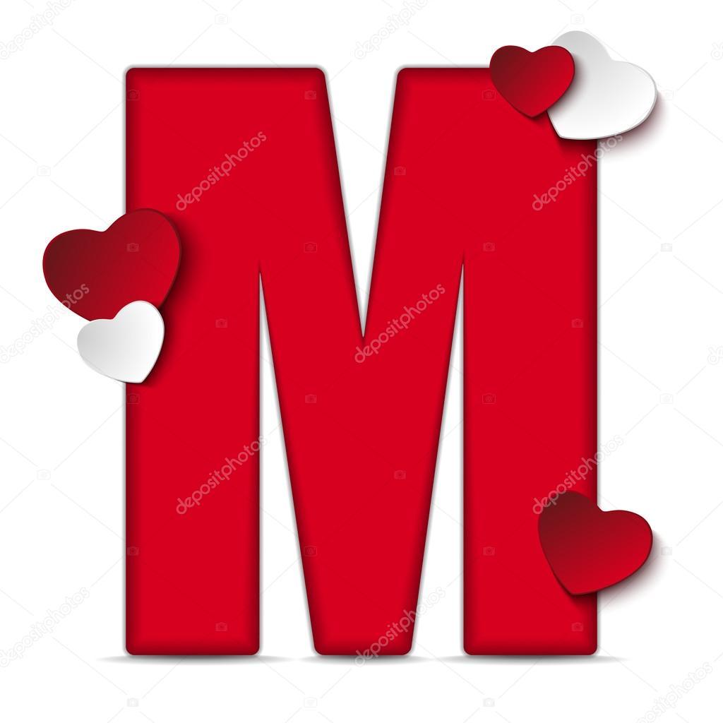 Popolare Alfabeto lettera M con i cuori — Vettoriali Stock © gubh83 #61526903 QR64