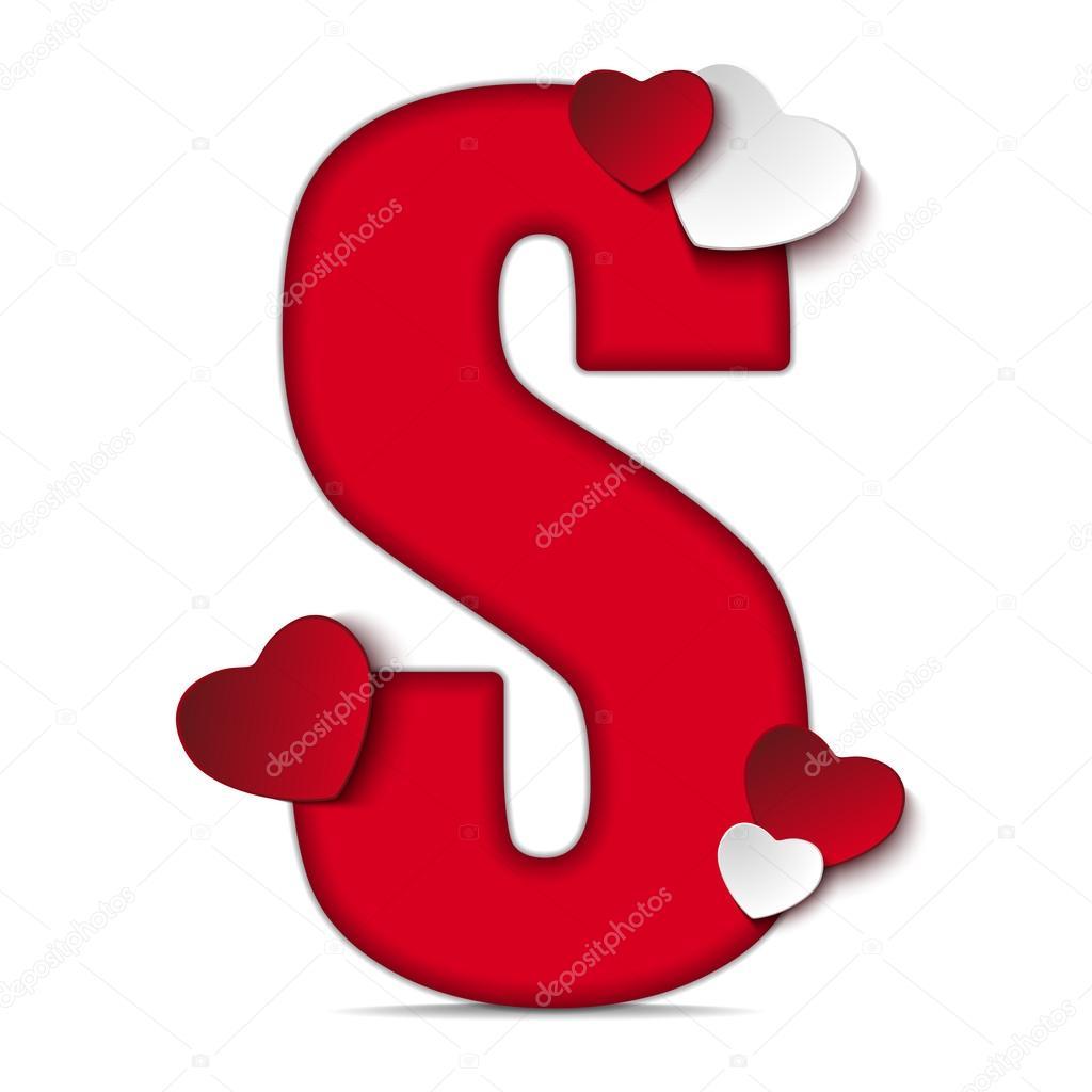 Eccezionale Lettera S di alfabeto con cuori — Vettoriali Stock © gubh83 #61526937 XB87