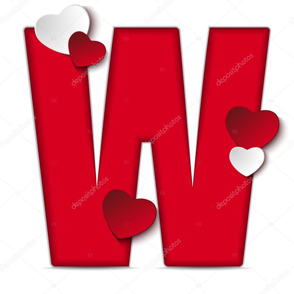 S Alphabet In Heart Alfabet brief W...