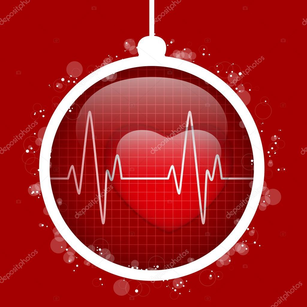 Frohe Weihnachten Herz.Frohe Weihnachten Herz Ball Stockvektor Gubh83 75024189