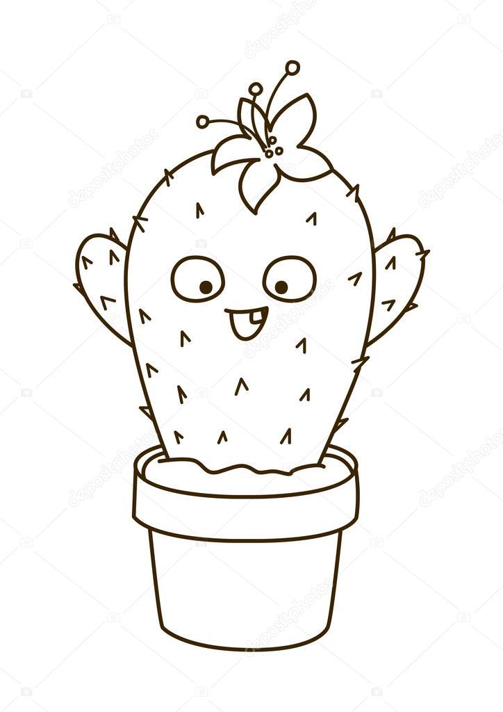 Ilustración de dibujos animados cactus — Vector de stock © Huhli13 ...