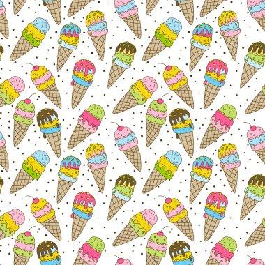 sweet ice creams pattern