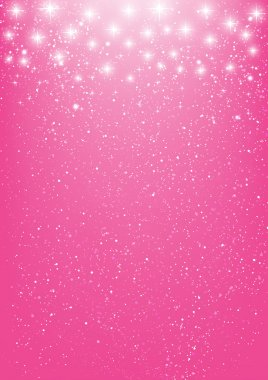Shiny stars on pink background clip art vector