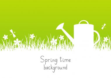 Spring garden background