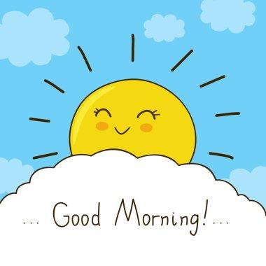 Good morning card. Vector illustration stock vector