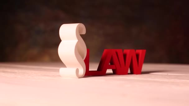 White Paragraph sign with law theme