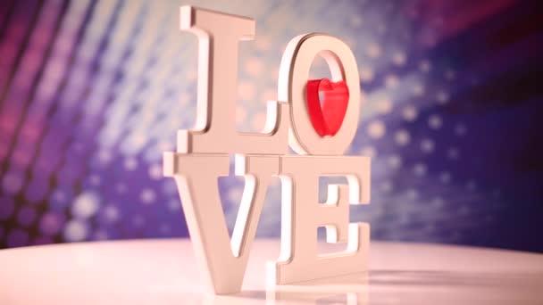 Znamení lásky s červeným srdcem