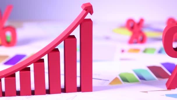 Podnikatelský koncept s symboly procent