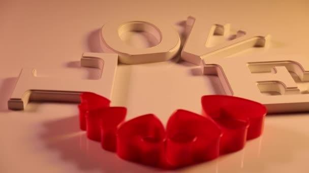 Liebeszeichen mit roten Herzen